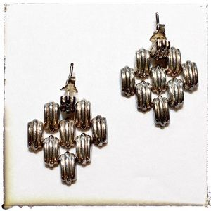 Silver Plated Chain Link Earrings